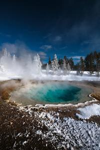 Tropic-Blue Of Silex Spring Along The Fountain Paint Pot Nature Trail In Yellowstone National Park by Ben Herndon