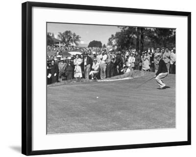 Ben Hogan Applying Body English After Putting On 7th But Ball Went Foot Past Hole And Took Par Premium Photographic Print Art Com