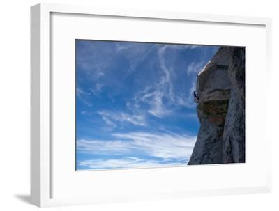 Idylwild, Tahquitz Rock, California, USA: A Man Climbs the Airy 'Traitor Horn' on Tahquitz Rock