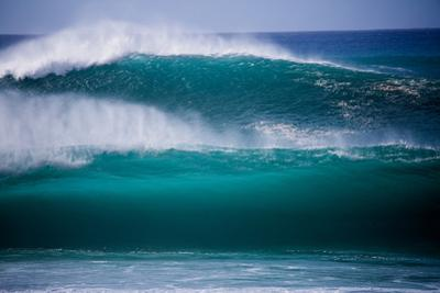 Powerful Waves Crash on the North Shore of Oahu