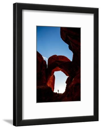 Silhouette of Professional Surfer Exploring Arches National Park