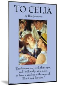 To Celia by Ben Johnson
