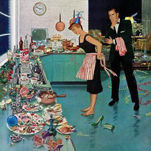 """""""After Party Clean-up,"""" January 2, 1960 by Ben Kimberly Prins"""
