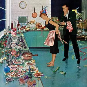 """After Party Clean-up,"" January 2, 1960 by Ben Kimberly Prins"