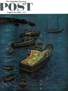 """""""All Hands on Deck,"""" Saturday Evening Post Cover, August 20, 1960 by Ben Kimberly Prins"""