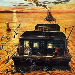 """""""Barges"""", April 6, 1957 by Ben Kimberly Prins"""
