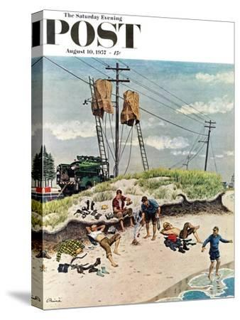 """Break Time"" Saturday Evening Post Cover, August 10, 1957"