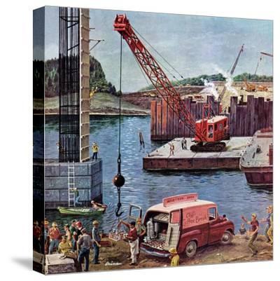 """""""Bridge Construction"""", March 9, 1957"""