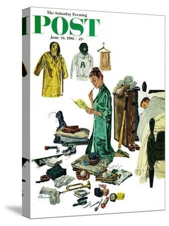 """Checklist for Summer Camp,"" Saturday Evening Post Cover, June 24, 1961"