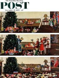 """""""Christmas Morning"""" Saturday Evening Post Cover, December 27, 1958 by Ben Kimberly Prins"""
