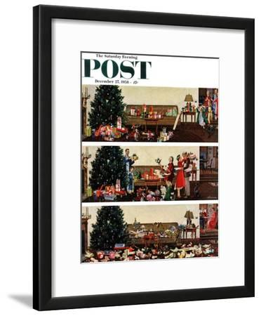 """Christmas Morning"" Saturday Evening Post Cover, December 27, 1958"