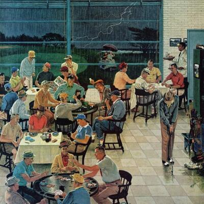 """""""Clubhouse on Rainy Day,"""" July 8, 1961"""
