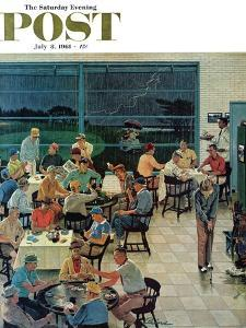 """""""Clubhouse on Rainy Day,"""" Saturday Evening Post Cover, July 8, 1961 by Ben Kimberly Prins"""