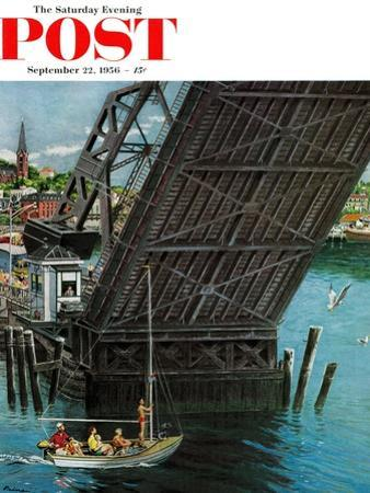 """Drawbridge"" Saturday Evening Post Cover, September 22, 1956"