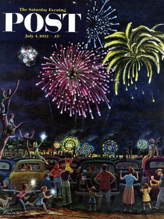 """Fireworks"" Saturday Evening Post Cover, July 4, 1953"