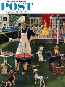 """Hot Dogs"" Saturday Evening Post Cover, September 13, 1958 by Ben Kimberly Prins"