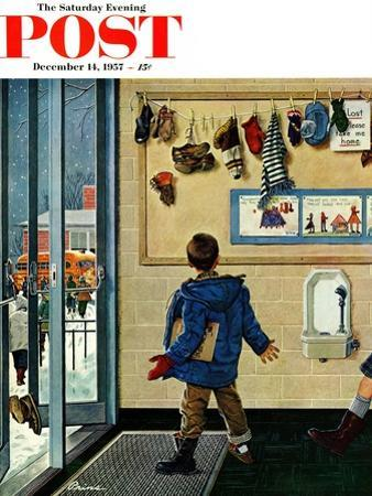 """Lost His Mitten"" Saturday Evening Post Cover, December 14, 1957"
