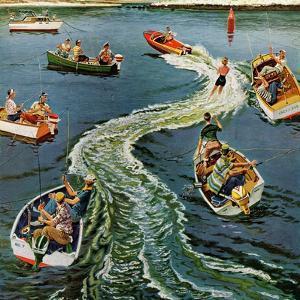 """Making a Wake"", July 26, 1958 by Ben Kimberly Prins"