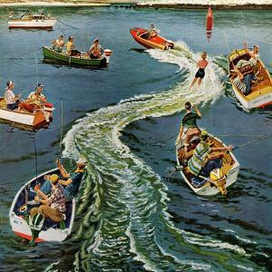 """Making a Wake"", July 26, 1958 by Ben Kimberly Prins"