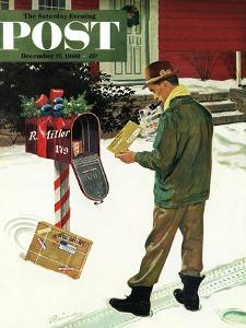 """""""Merry Christmas from the IRS,"""" Saturday Evening Post Cover, December 17, 1960 by Ben Kimberly Prins"""