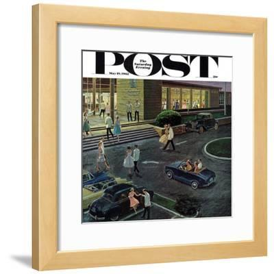 """""""Prom Dates in Parking Lot,"""" Saturday Evening Post Cover, May 19, 1962"""