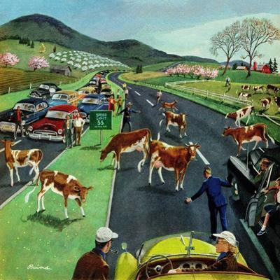 """Slow Mooving Traffic"", April 11, 1953"