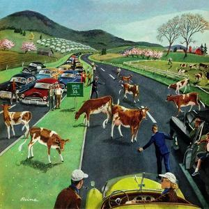 """""""Slow Mooving Traffic"""", April 11, 1953 by Ben Kimberly Prins"""