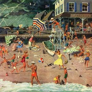 """""""Thunderstorm at the Shore"""", July 10, 1954 by Ben Kimberly Prins"""