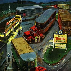 """""""Truck Stop Diner"""", October 10, 1953 by Ben Kimberly Prins"""