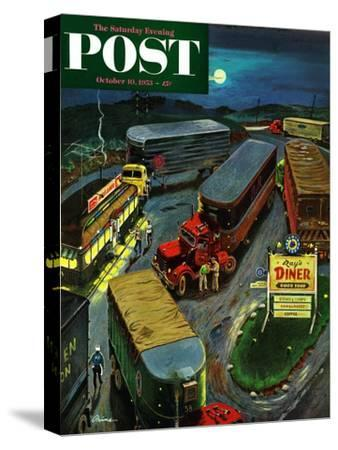 """Truck Stop Diner"" Saturday Evening Post Cover, October 10, 1953"