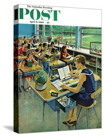 """Vacation Plans,"" Saturday Evening Post Cover, April 9, 1960"