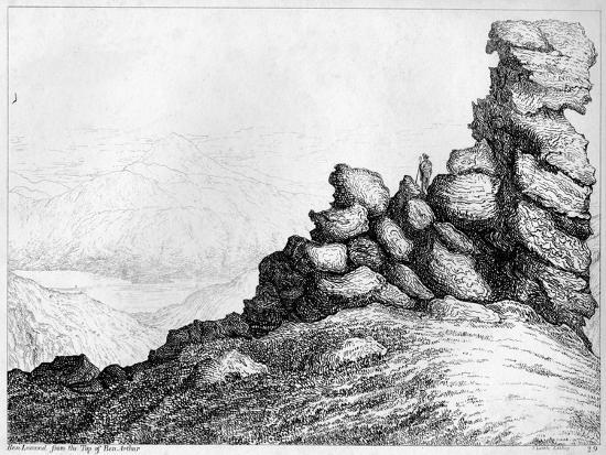 'Ben Lomond from the Top of`Ben Arthur', c1812-S Leith-Giclee Print