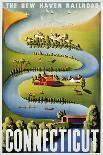 Connecticut Poster-Ben Nason-Framed Premier Image Canvas