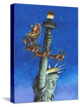Santa Visits Lady Liberty