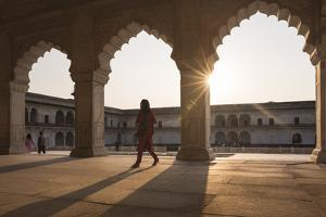 Agra Fort at Sunset, UNESCO World Heritage Site, Agra, Uttar Pradesh, India, Asia by Ben Pipe