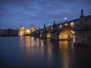 Charles Bridge and River Vltava, Prague, UNESCO World Heritage Site, Czech Republic, Europe by Ben Pipe