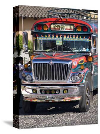 Chicken Bus, Antigua, Guatemala, Central America