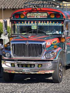 Chicken Bus, Antigua, Guatemala, Central America by Ben Pipe
