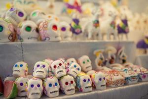 Dia De Los Muertos (Day of the Dead) Souvenirs, San Miguel De Allende, Guanajuato by Ben Pipe