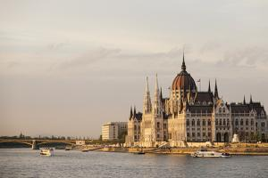 Evening Light on the Hungarian Parliament Building and Danube River, Budapest, Hungary, Europe by Ben Pipe