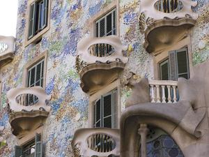 Facade of Casa Batlo, UNESCO World Heritage Site, Barcelona, Catalonia, Spain, Europe by Ben Pipe