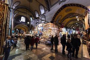 Interior of Grand Bazaar (Kapali Carsi), Istanbul, Turkey by Ben Pipe