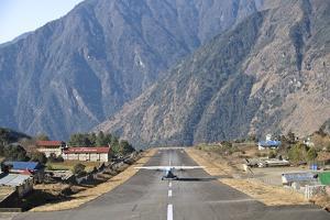 Lukla Airport and Runway, Solu Khumbu Region, Nepal, Himalayas, Asia by Ben Pipe
