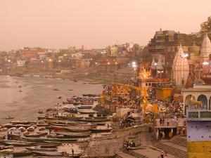 Man Mandir Ghat, Varanasi, Uttar Pradesh, India, Asia by Ben Pipe