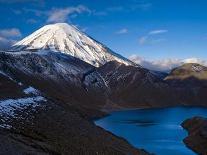 Mount Ngauruhoe and Upper Tama Lake, Tongariro National Park, UNESCO World Heritage Site, North Isl by Ben Pipe