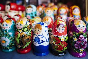 Souvenir Russian dolls for sale, Old Town, Tallinn, Estonia, Europe by Ben Pipe