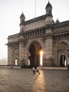 Sunrise Behind the Gateway to India, Mumbai (Bombay), India, South Asia by Ben Pipe