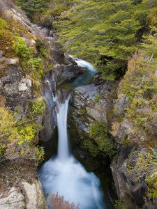 Taranaki Falls, Tongariro National Park, UNESCO World Heritage Site, North Island, New Zealand, Pac by Ben Pipe