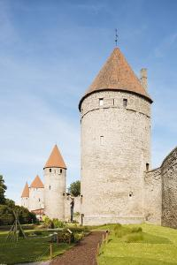 The Old City walls, Old Town, UNESCO World Heritage Site, Tallinn, Estonia, Europe by Ben Pipe