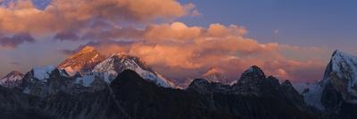 View from Gokyo Ri, Mt Everest, Mt Lhotse, Dudh Kosi Valley, Solu Khumbu (Everest) Region, Nepal